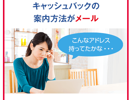 @nifty WiMAX口座振替のキャッシュバック案内はメール