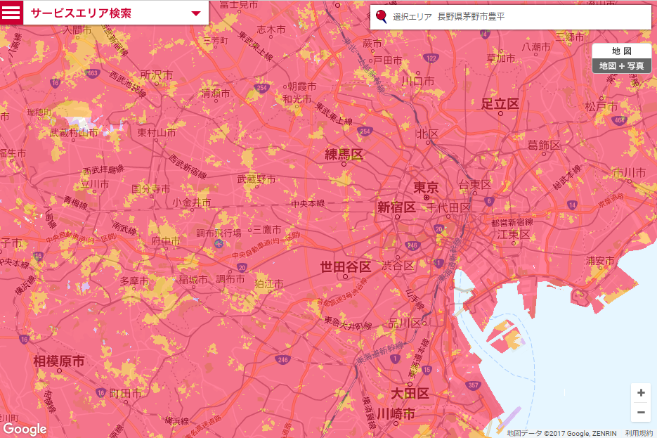 docomoのポケットWi-Fi・PREMIUM 4Gのエリア東京拡大