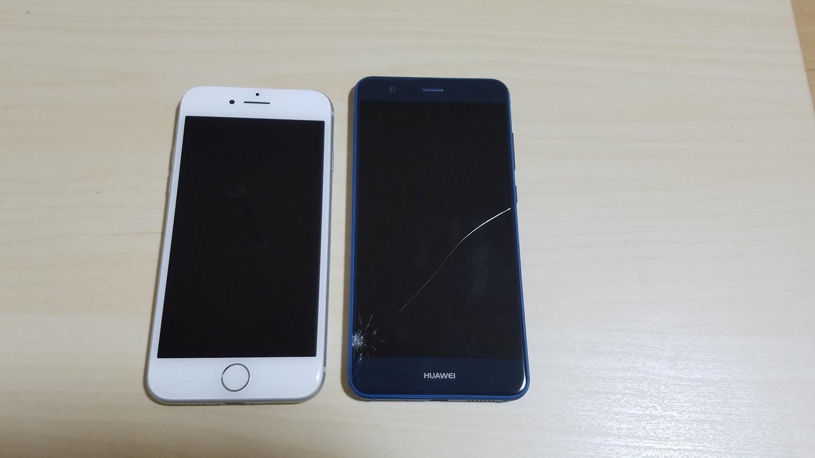 どちらもUQモバイルが使えるiPhone8とP10 lite