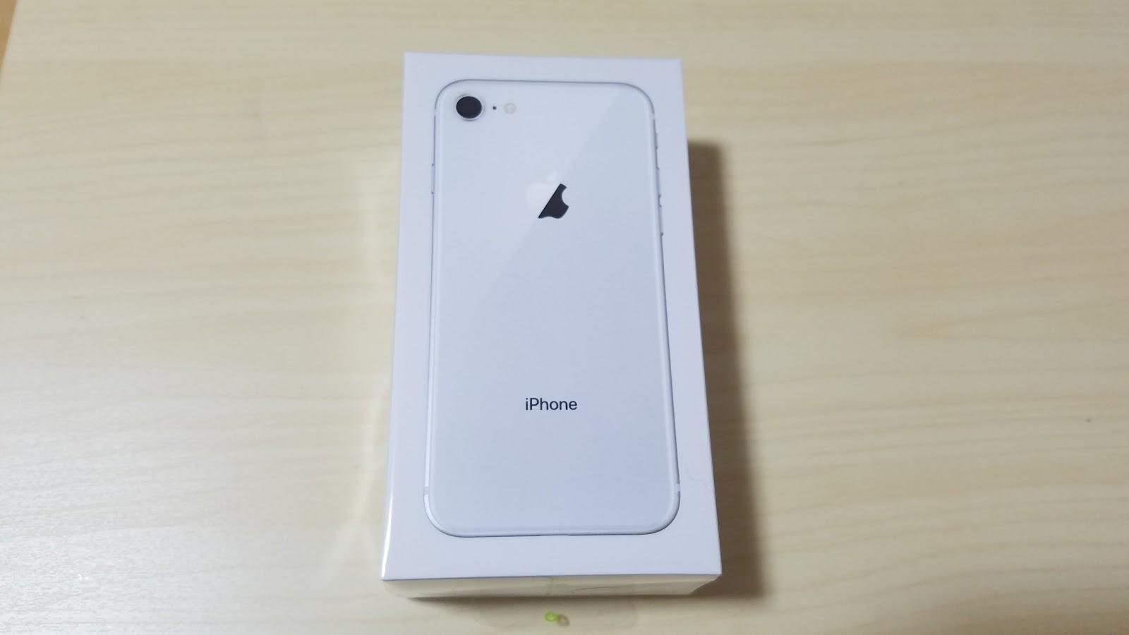 iPhone8の箱を撮ってみた