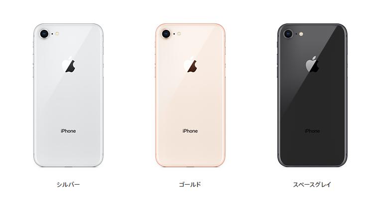 UQモバイルも使えるiPhone8カラバリ