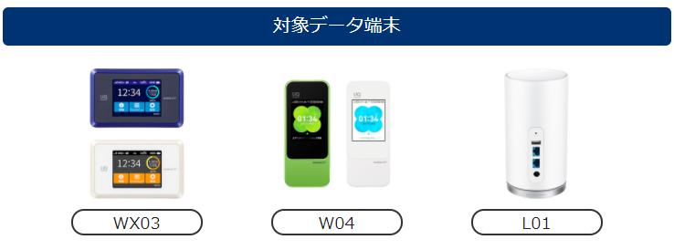 BIGLOBE WiMAXキャンペーンで選べるデータ端末
