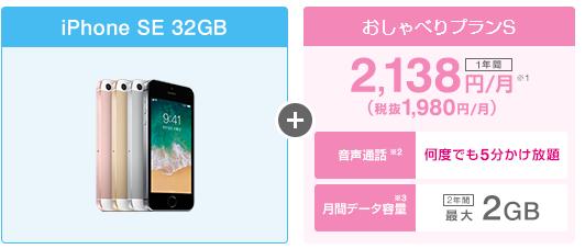 UQモバイル口座振替×iPhoneSE 32GBの料金シミュレーション